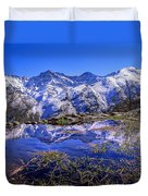 Mulhacen  Alcazaba And Vacares Duvet Cover