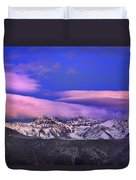 Mulhacen And Alcazaba At Sunset Duvet Cover
