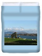 Mull And The Trossachs From Iona Duvet Cover