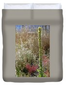 Mullin And Other Springtime Wildflowers Duvet Cover