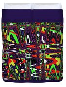 Multi Color Abstract Duvet Cover