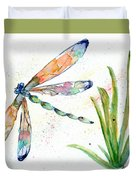 Multi-colored Dragonfly Duvet Cover