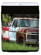 Multi-colored Ford Duvet Cover