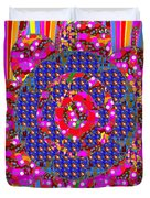 Multi Layered Colorful Flowers Christmas Wreath Style By Navinjoshi At Fineartamerica  Duvet Cover