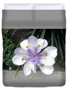 Multi-petal White Iris Flower. Very Unusual, Rare Form Duvet Cover