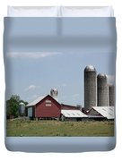 Multi Silo Farm Duvet Cover