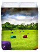 Multicolored Bales Fantasy Duvet Cover