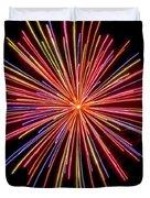 Multicolored Fireworks Duvet Cover