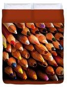 Multicolored Pencils Duvet Cover