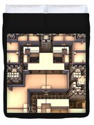 Multidimensional Rooms Duvet Cover