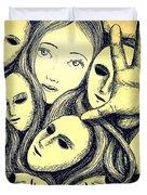 Multiple Personalities Duvet Cover by Paulo Zerbato