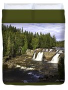 Multiple Waterfalls Duvet Cover by John Holloway