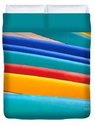 Multitude Of Surfboards Duvet Cover