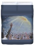 Multitude Of Worshippers Duvet Cover
