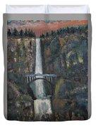 Multnomah Falls, Oregon Duvet Cover