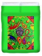 Mun Moji-hookah Monkey Duvet Cover