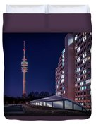 Munich - Olympictower And Village Duvet Cover