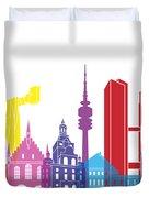 Munich Skyline Pop Duvet Cover
