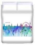 Munich Skyline Silhouette An Impressionistic Splash - Dream Cities Series Duvet Cover