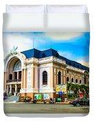 Municipal Theater Ho Chi Minh City Vietnam Duvet Cover