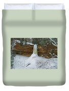 Munising Falls Frozen Duvet Cover