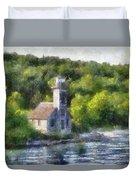 Munising Grand Island Lighthouse Upper Peninsula Michigan Pa 01 Duvet Cover