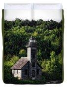 Munising Grand Island Lighthouse Upper Peninsula Michigan Vertical 02 Duvet Cover