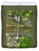Munising Waterfall Duvet Cover