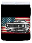 Muscle Us Mustang Duvet Cover
