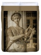 Achilleion, Corfu, Greece - The Muse Terpsichore Duvet Cover