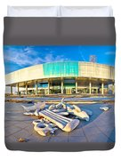 Museum Of Contemporary Art In Zagreb Duvet Cover