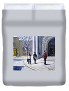 Museum Walks Duvet Cover