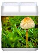 Mushroom And Grass Duvet Cover by Fabio Giannini