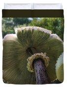 Mushroom Down Under  Duvet Cover