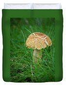 Mushroom In The Grass Duvet Cover