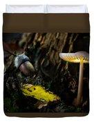 Mushroom Lantern Enchanted Forest Duvet Cover
