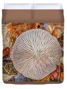 Mushroom On Fall Floor Duvet Cover