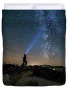 Mushroom Rocks Phenomenon Under The Night Sky Duvet Cover