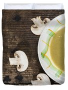 Mushroom Soup Duvet Cover by Deyan Georgiev