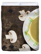 Mushroom Soup Duvet Cover
