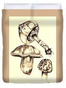 Mushroom Study 4 Duvet Cover