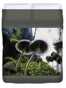 Mushrooms From Below Duvet Cover