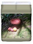 Mushrooms In Spotlight  Duvet Cover