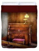 Music - Organist - A Vital Organ Duvet Cover by Mike Savad