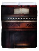 Music - Organist - Do Not Mortgage The Farm Duvet Cover by Mike Savad