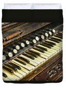 Music - Pump Organ - Antique Duvet Cover