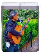 Music Al Fresco Duvet Cover
