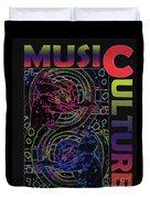 Music Culture Duvet Cover