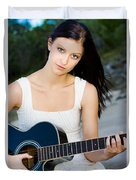 Music Girl Duvet Cover