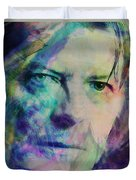 Music Icons - David Bowie Ill Duvet Cover